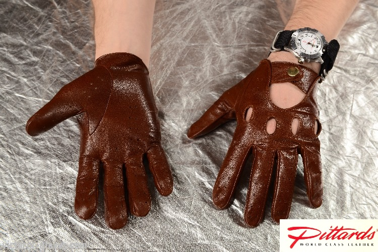 275brw_3 Driving Gloves: Classic Brown Driving Leather Gloves!