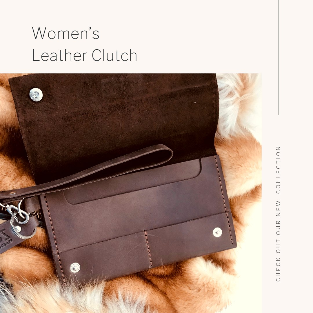 Victoria gloves online: shop gloves in leather | Other Accessories: Stylish Chocolate Brown Women's Clutch