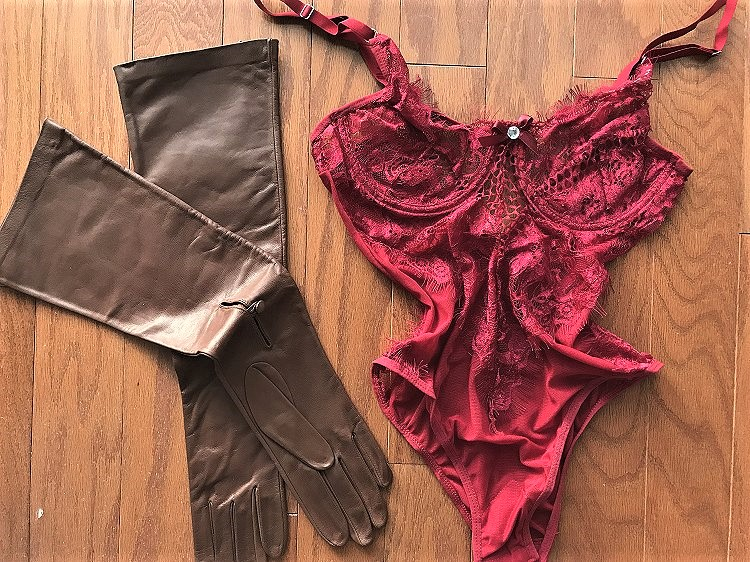 redvalent27 Lingerie: Burgundy Red Valentine Sheer Lace Teddy
