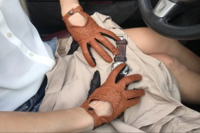 14_215_290x290 Gloves: Stylish Double Colored Driving Leather Gloves!