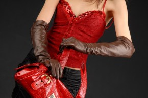 623brw_3_290x290 Gloves: Classic Chocolate Brown Long Leather Gloves with button insert!