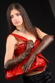623brw_5_290x290 Gloves: Classic Chocolate Brown Long Leather Gloves with button insert!