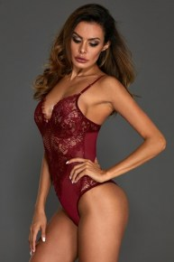redval6_290x290 Lingerie: Burgundy Red Valentine Sheer Lace Teddy