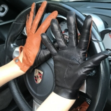 Stylish Double Colored Driving Leather Gloves!