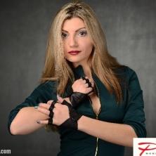 Fingerless Mitts Black Leather Gloves!