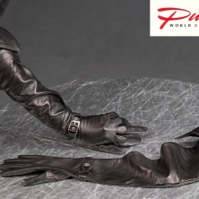 Rich Super Long Leather Opera Gloves with Leather Cuffs!
