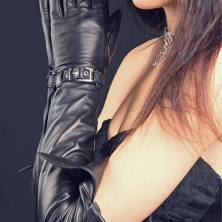 Super Long Leather Opera Gloves