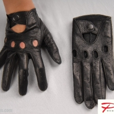 Classic Driving Black Leather Gloves!