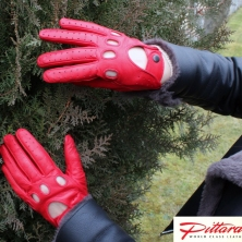 Driving Cognac Leather Gloves
