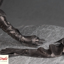 Rich Super Long Leather Opera Gloves