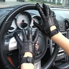 BRAND NEW! Stylish Dark Brown Men's Driving Leather Gloves! BRAND NEW!