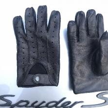 Stylish Dark Brown Men's Driving Leather Gloves!