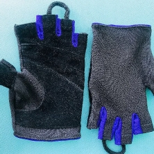 Fitness Athletic Wrist Fingerless Gloves!