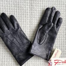 Men's Warm Black Leather Gloves