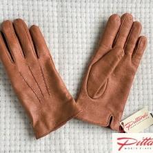 Men's Classic Warm Cognac Leather Gloves