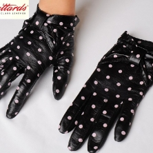 Classy Black polka dot gloves,Mary Poppins style!