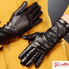 Black Leather Gloves with zippers